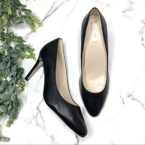 COLE HAAN Classic Black Leather Pumps